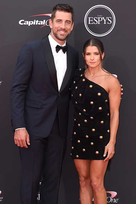 Aaron Rodgers and his girlfriend Danica Patrick