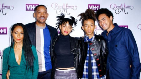 From Left to Right (Jada, Will, Willow, Jaden, and Trey)