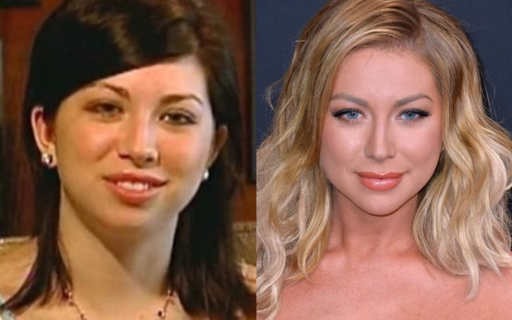 Side by Side Picture of Stassi Schroeder.