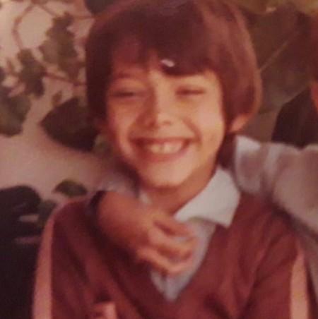 Alvaro Morte when he was a child