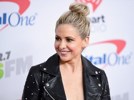 American actress and producer Sarah Michelle Gellar attending function