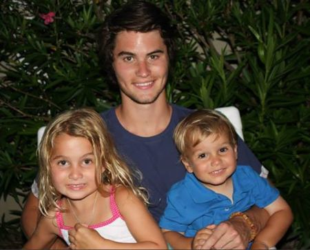Chase with his step-siblings Kaden Stokes and Kendall Nicole Stokes