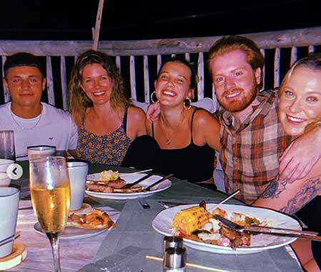 Actress Millie Bobby Brown and her new boyfriend Joseph Robinson enjoyed dinner party with rugby star Jason Robinson in the Maldives