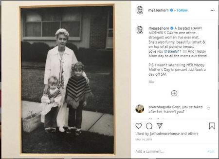 Rhea Seehorn and her siblings stand alongside her mother in a cute Instagram photoher