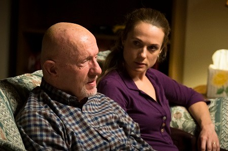 Kerry Condon and her TV father Mike in Better Call Saul