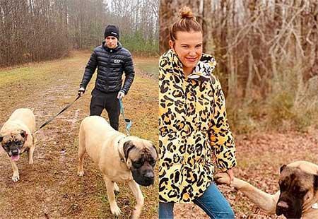 Millie Bobby Brown and her boyfriend Joseph Robinson enjoyed dog walk