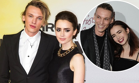 Jamie Campbell Bower and former girlfriend Lily Collins
