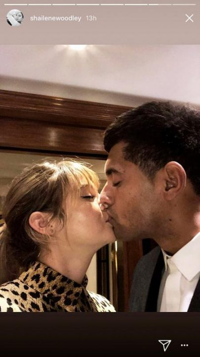 Shailene Woodley kissing her ex-boyfriend Ben Volavola