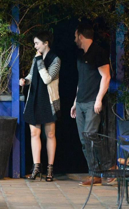 Lily Collins and Chris Evans Dinner