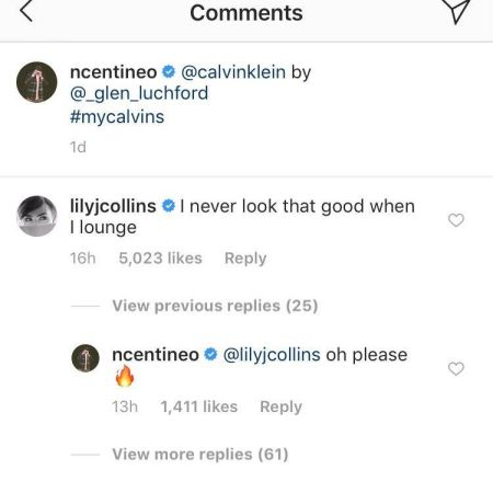 Lily Collins flirted with Noah Centineo