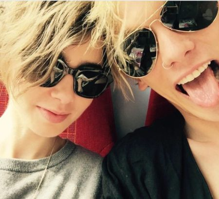 Lily Collins with Jamie Campbell Bower