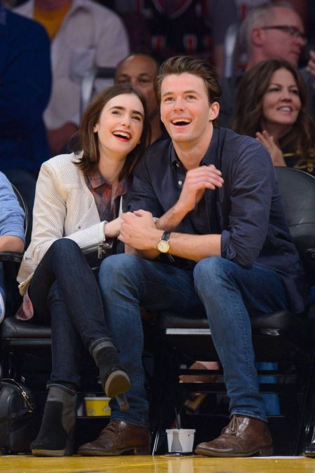 Lily Collins with Thomas Cocquerel