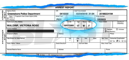 Woah Vicky is White Claims police arrest report