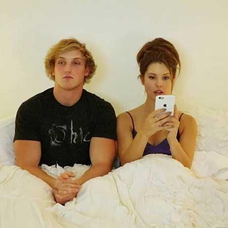 Amanda Cerny and her ex-boyfriend Logan Paul