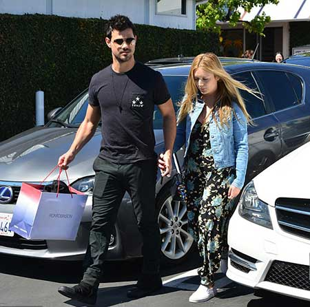 Taylor Lautner and his ex-girlfriend Billie Lourd
