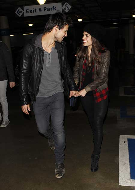 Taylor Lautner and his ex-girlfriend Marie Avgeropoulos