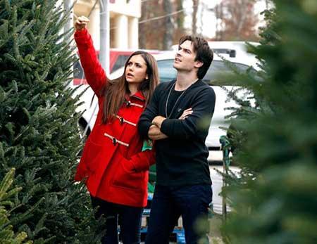 Nina and Ian went Christmas tree shopping in 2012