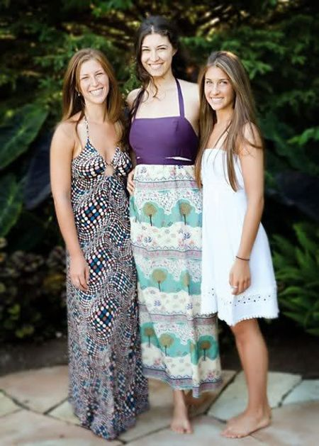 Ashley with her sister Emily and Deborah