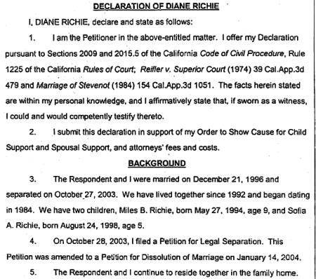 Lionel Richie Wife Divorce Document