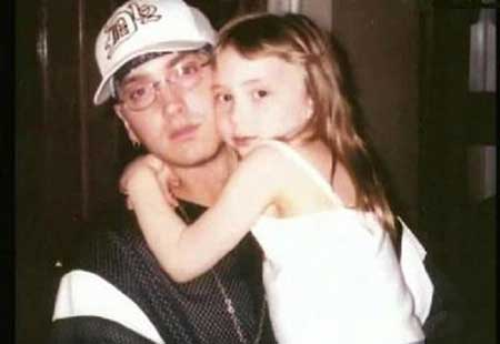 Alaina Marie Mathers with her father Eminem