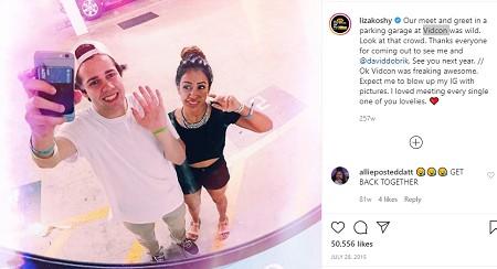 Liza Koshy dated boyfriend David Dobrik.