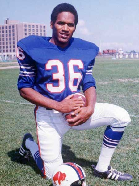 Former footballer O.J. Simpson during his playing days