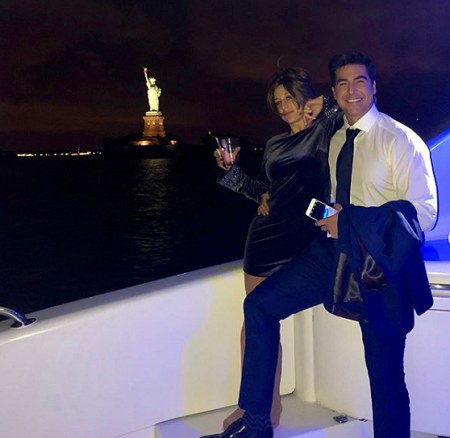 Jesse Watters and his then-girlfriend Emma DiGiovine on the ship.
