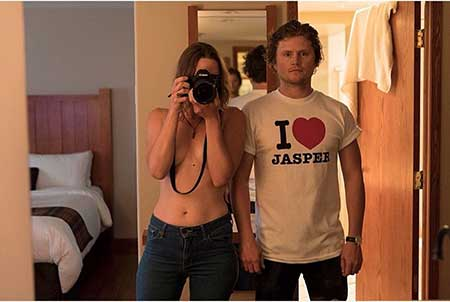 Nathan Dales with his girlfriend Jasper Savage