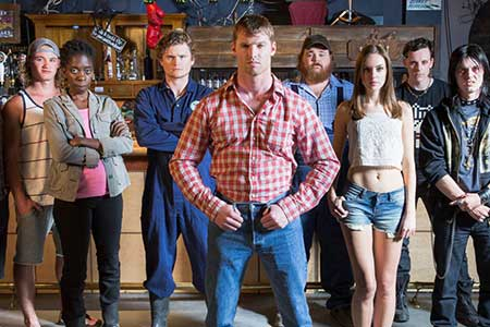 Nathan Dales with his Letterkenny co-stars