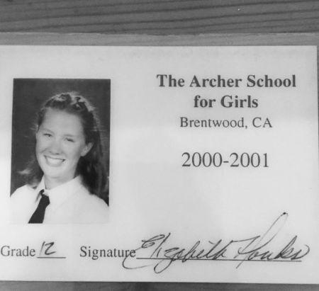 Elizabeth Ann Hanks in her school days