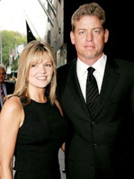 Rhonda Worthey with ex-husband Troy Aikman