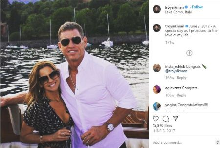 Troy Aikman Proposed wife Catherine Mooty during his vacation in Europe