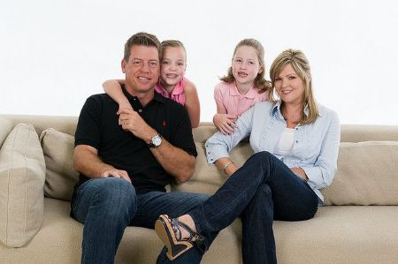Troy Aikman with his ex-wife Rhonda Worthey and Children