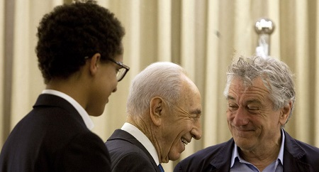 Julian Henry De Niro with her papa Robert.