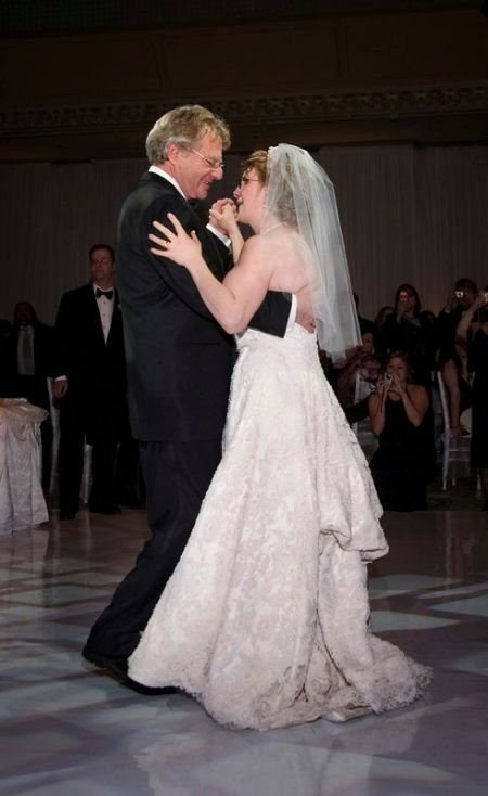 Jerry Springer with his daughter Katie Springer on her Wedding In 2006
