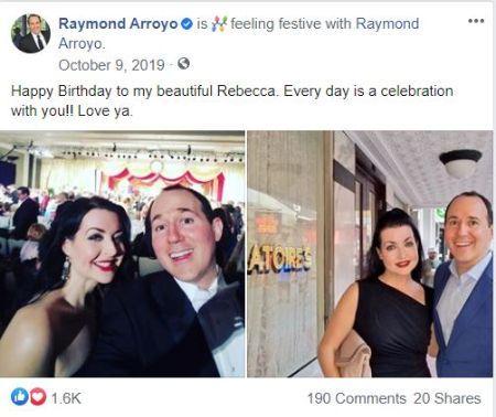 "Raymond's ""Happy Birthday"" post wishing his spouse"