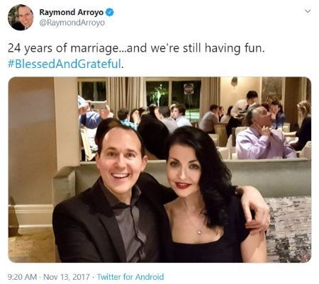 Raymond and his wife celebrate their 24 wedding anniversary