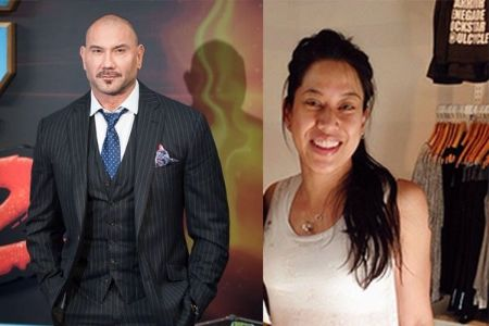 Dave and ex-wife Glenda Bautista