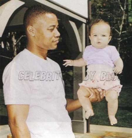 Piper Gooding with her father, Cuba Gooding Jr.