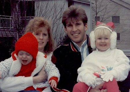 Todd Chrisley and his first partner Teresa with their two kids.