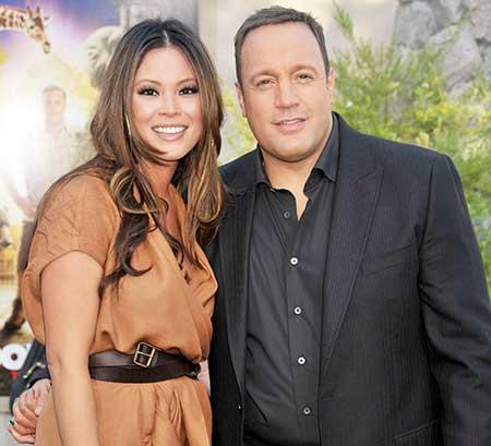 Kevin James and his wife, Steffiana de la Cruz