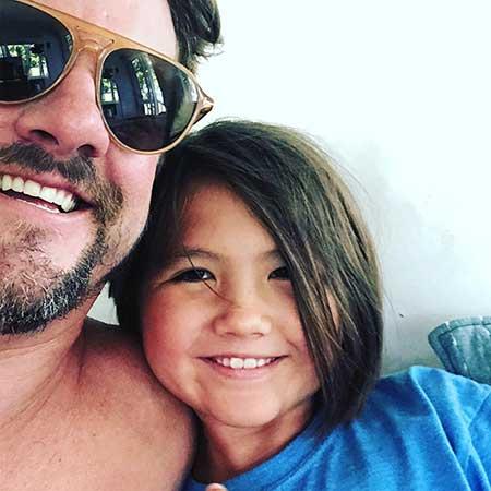 Zachary Knighton and his daughter, Tallulah Knighton