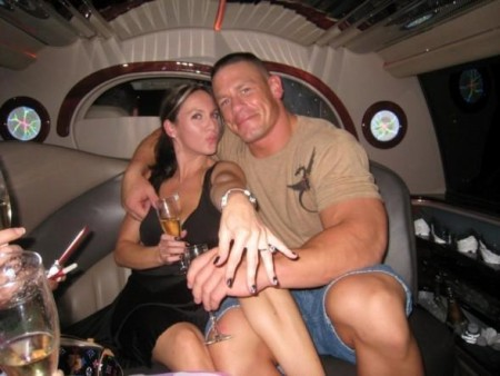 Elizabeth with her ex-husband John Cena
