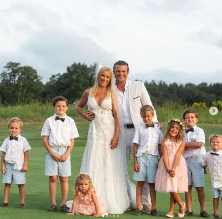Samantha Hegseth's Husband Pete With His Now Wife Jennifer And Their Children