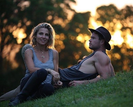 Elsa Pataky with her husband Chris.