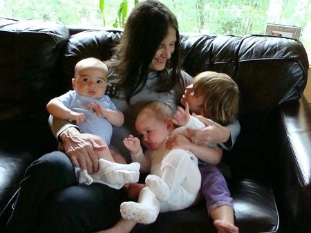 Mollee has four children with her husband Marty.