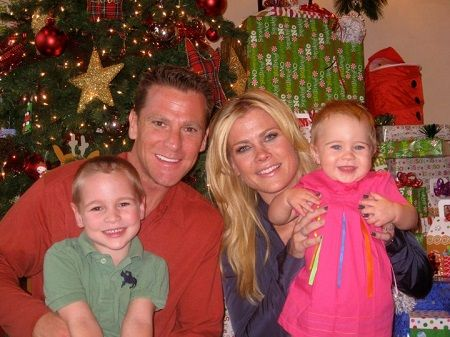 Alison's beautiful family including his life partner and two children.