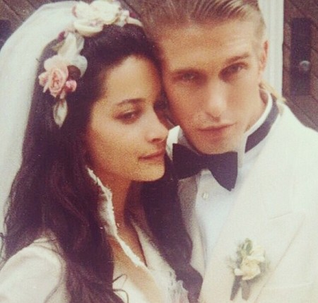 Kennya with her husband on their wedding day.