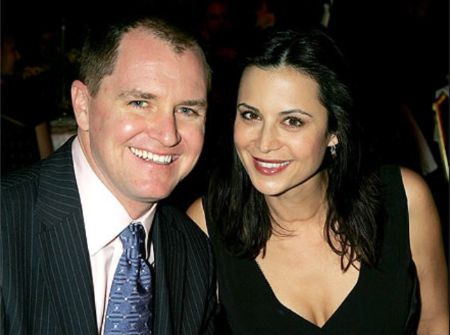Adam Beason With His Wife Catherine Bell