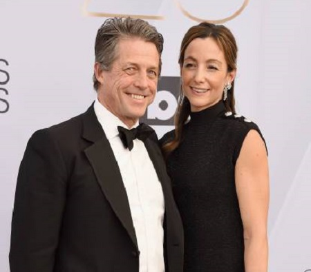 Anna has been married to Hugh Grant for three years.